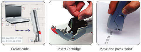Create, load cartridge and print