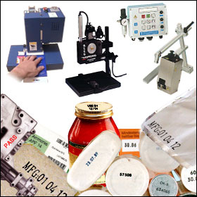 Contact marking machines for contact ink coding