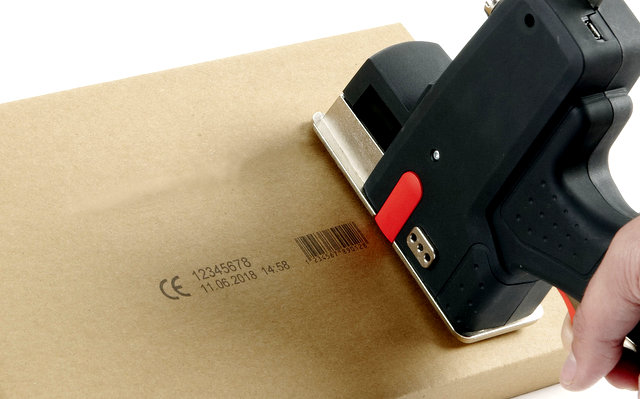 Portable Inkjet Coder: Hand Held Printing of Logos, Barcodes